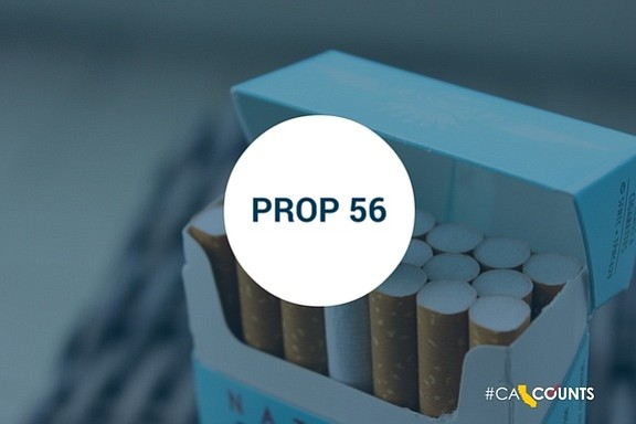 Proposition 56 to raise tax rate for tobacco in Calafornia from one of lowest in the country to one of the highest