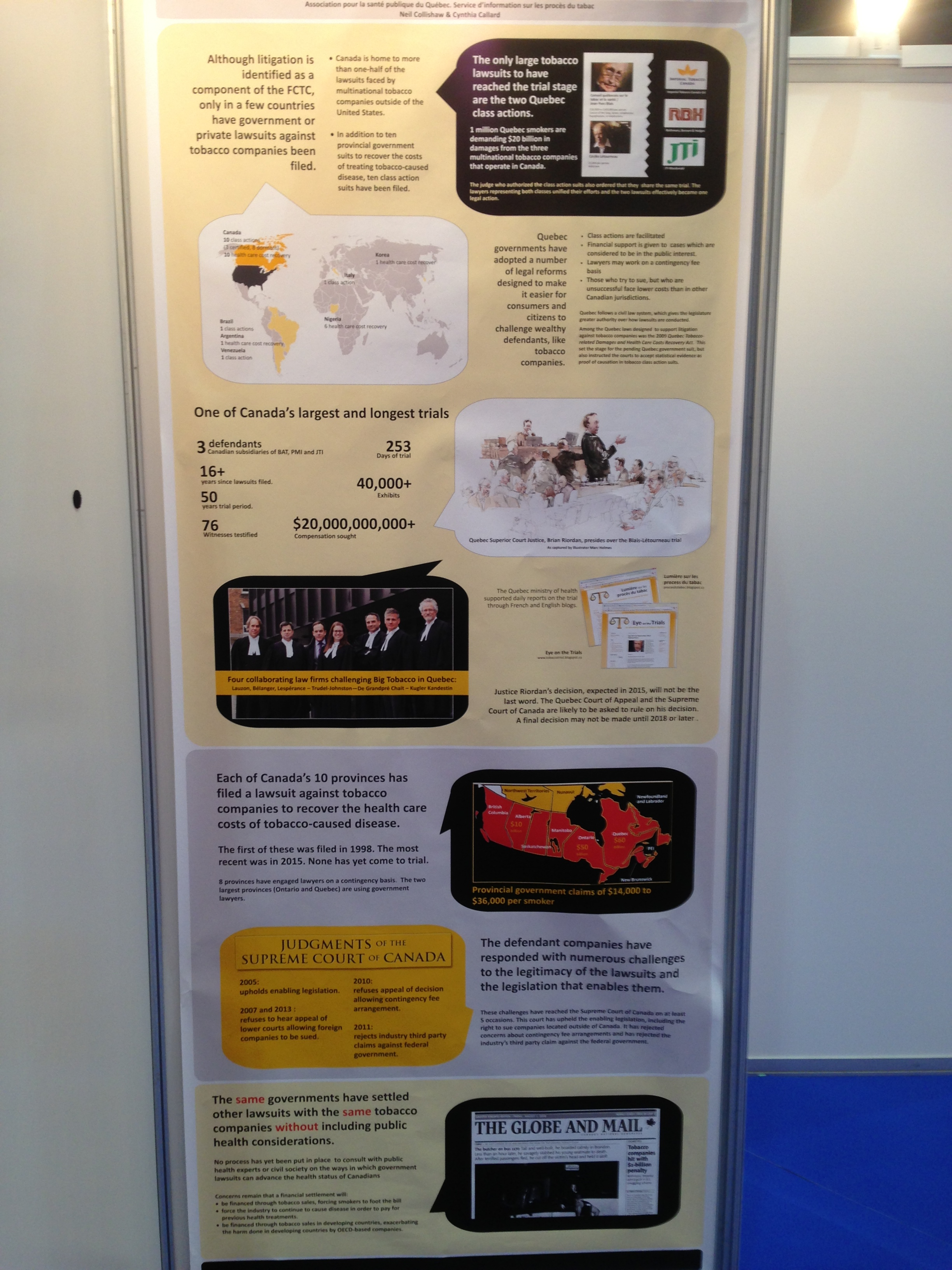 Poster shown at the 16th World Conference on Tobacco or Health, Abu Dhabi, March 2015