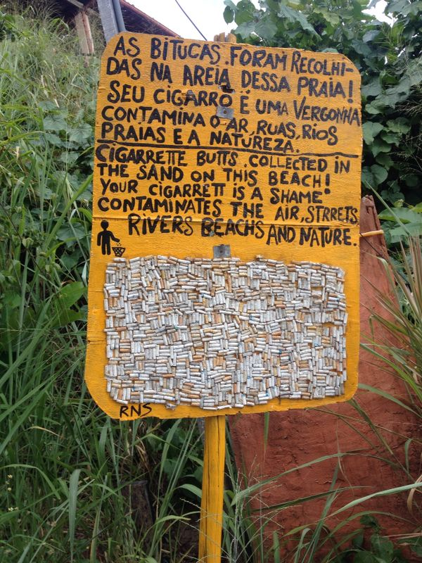 Environmental campaign in Praia da Pipa beach in Brazil