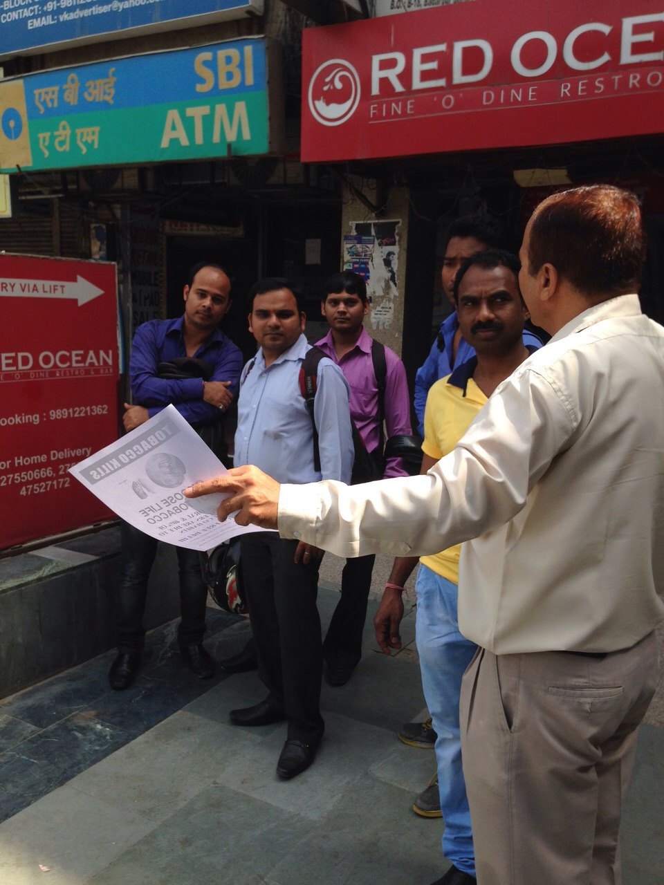 Sensitization campaign on Dry Day for Tobacco in Delhi
