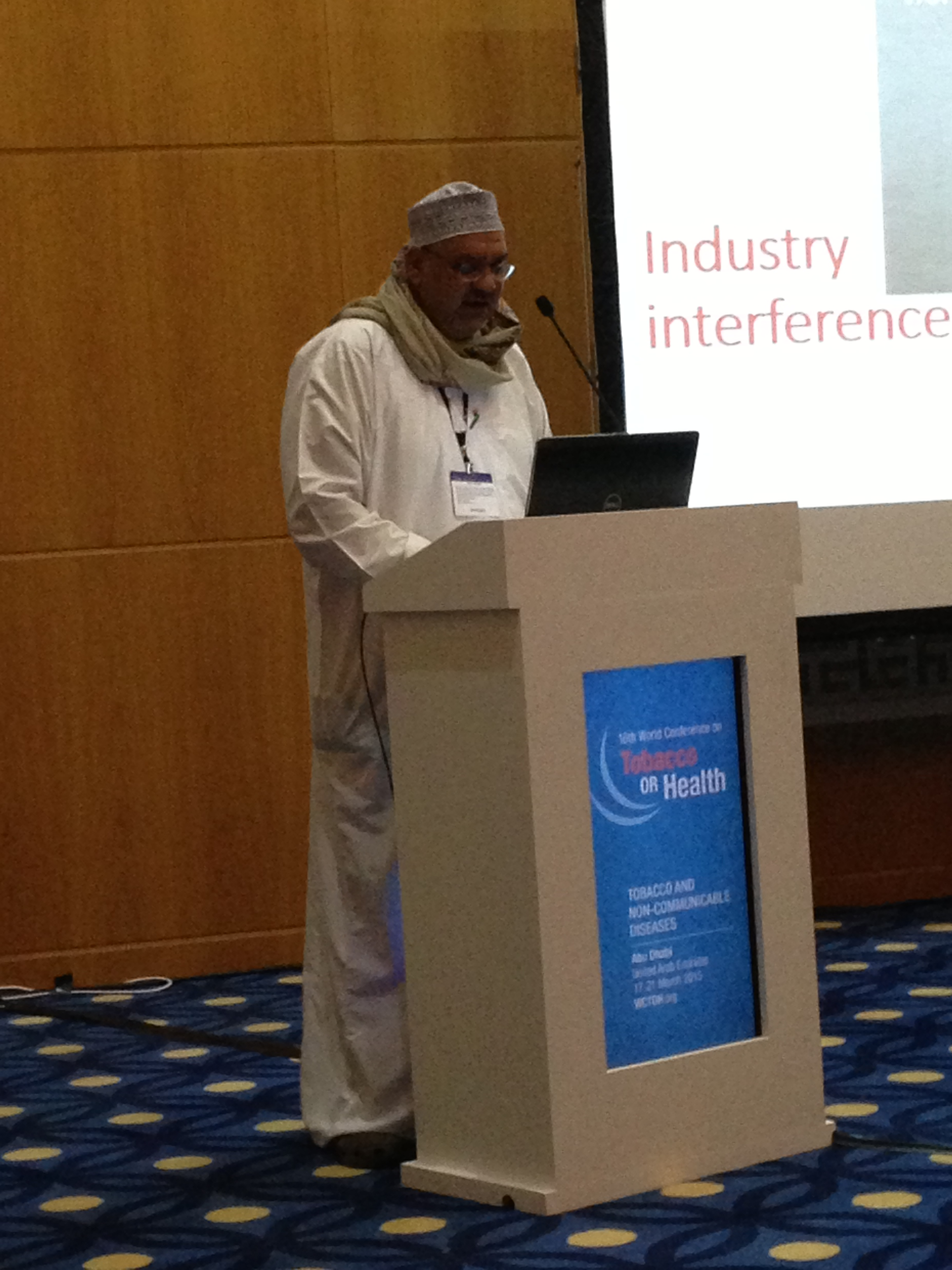 Impressions from the 16th World Conference on Tobacco or Health, Abu Dhabi, March 2015