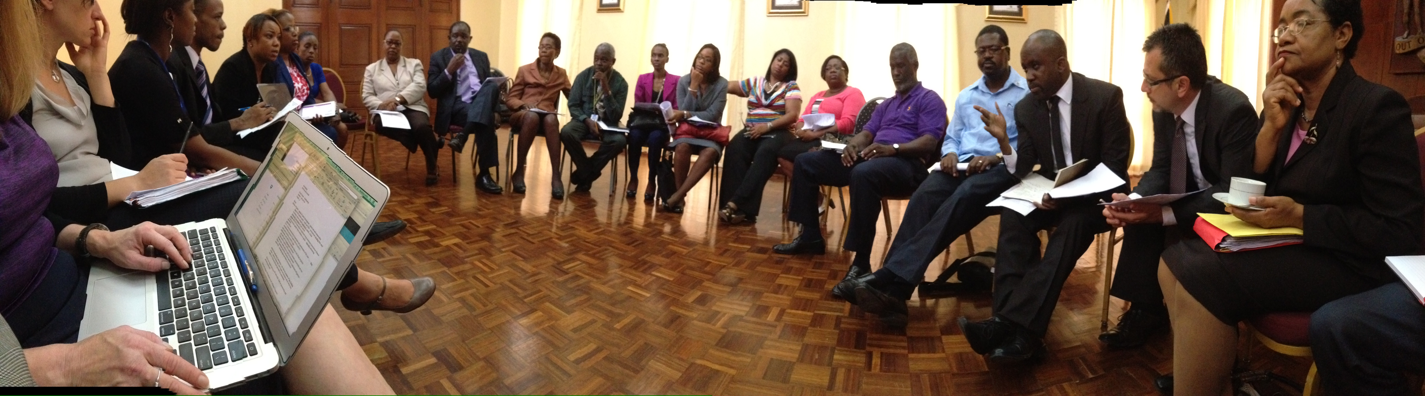 Meeting with stakeholders on education and communication matters (during the needs assessment mission in August 2014)