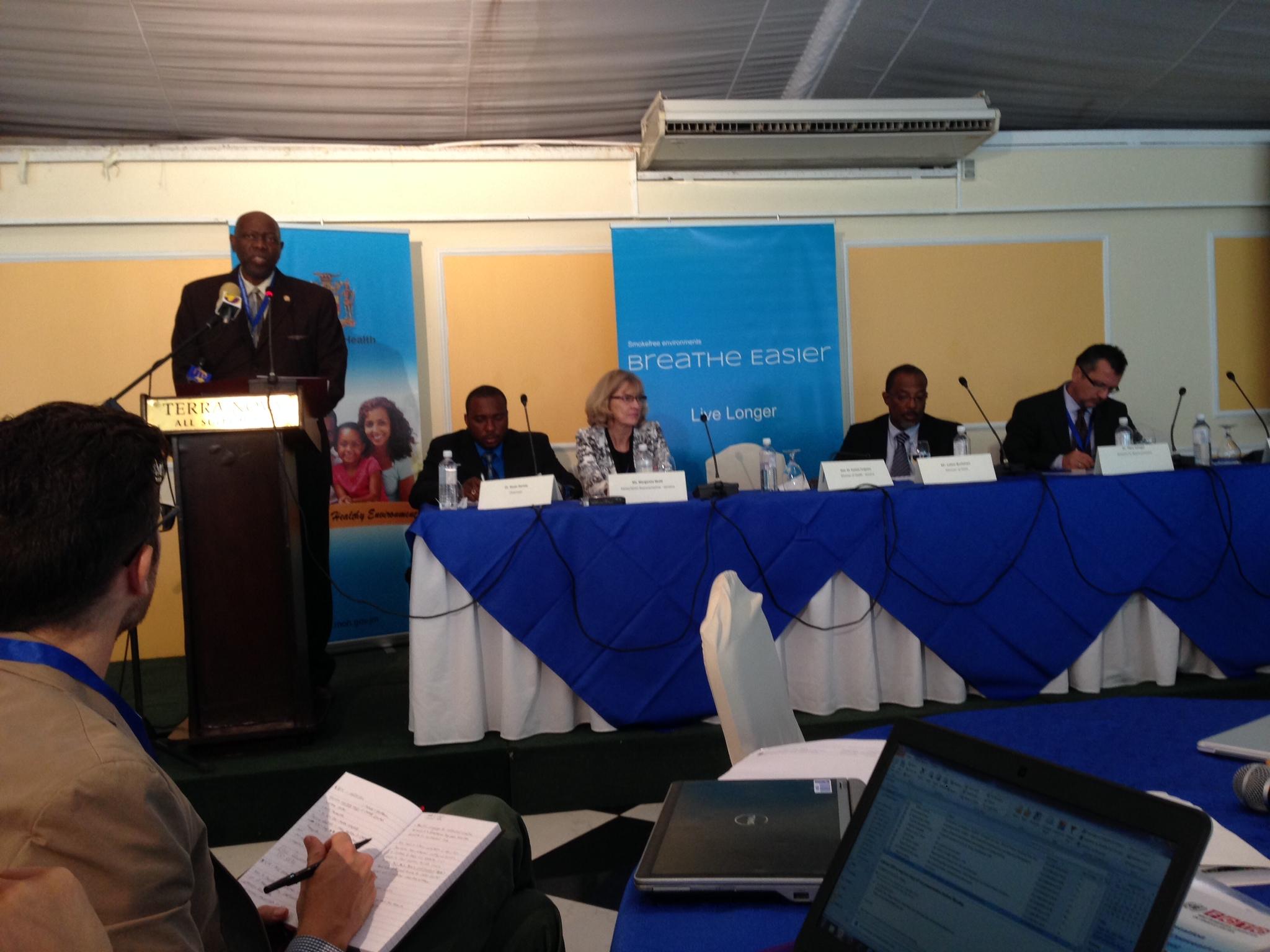 Hon. Minister of Health addressing the stakeholder meeting