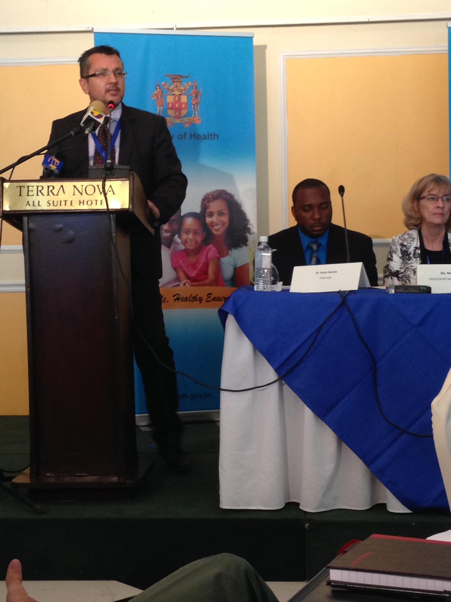 Dr Tibor Szilagyi addressing the stakeholder meeting