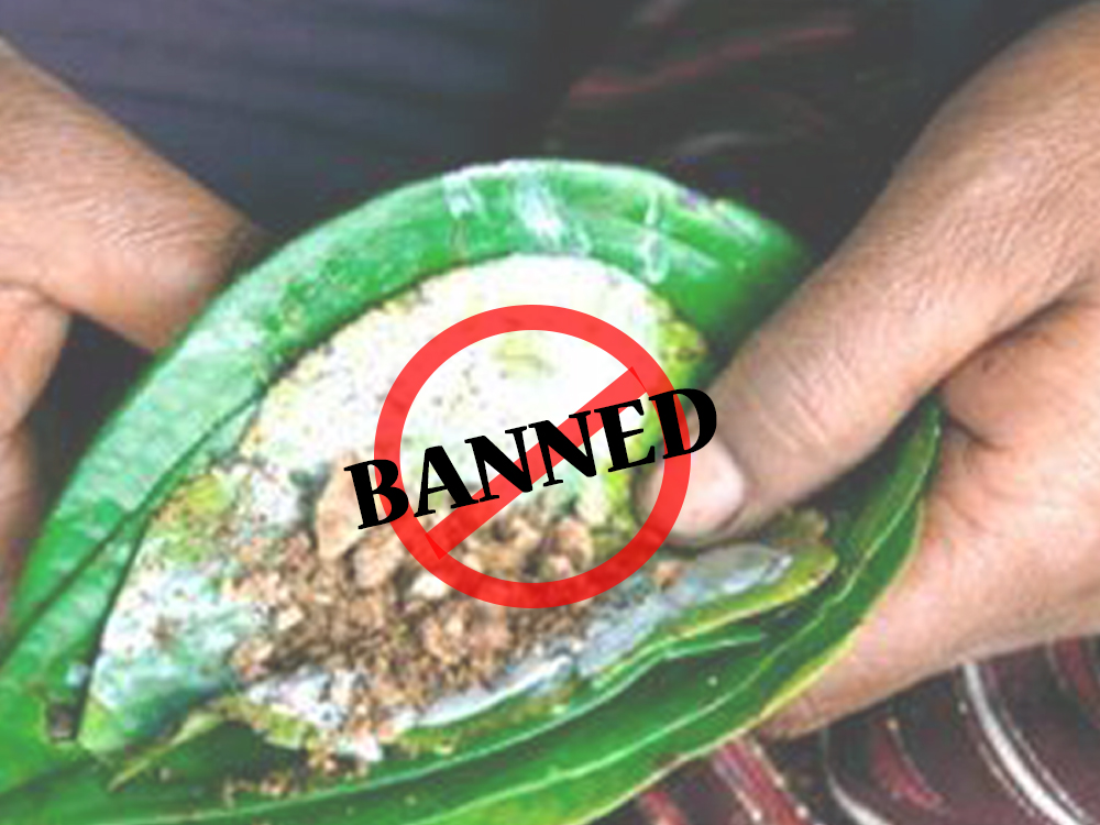 Chewing betel and arecanut banned in Sri Lanka