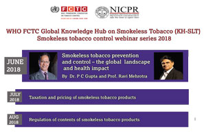 Smokeless Tobacco Control Webinar Series 2018