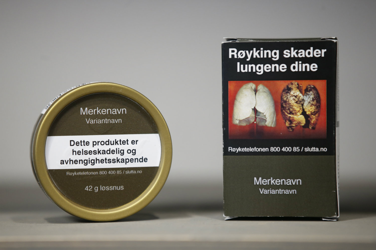 Branded Norwegian cigarettes and snus to be consigned to history